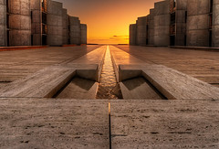 Flux Eternal (Sairam Sundaresan) Tags: 7d california canon canon7d hdr sunset architecture canal coast colour dramatic lajolla longexposure photomatix salkinstitute sandiego shore stream symmetry water yellow thepinnaclehof tphofweek149 kanchenjungachallengewinner k2challengewinner