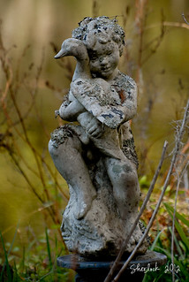 Statue of Child with Duck