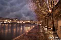 Paris, France - Rainy Day @Ile de la Cit (GlobeTrotter 2000) Tags: summer vacation cloud paris france tower tourism rain seine river de la canal europe day mood cloudy path cit ile atmosphere eiffel visit rainy pavements