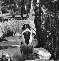 What I Know Now (Alix Rae.) Tags: white black girl sad boots creepy swamp upset