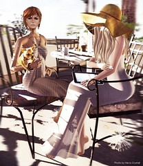chilling with Stephy at Grove* (Neva Crystall~) Tags: tram swallow shag maitreya slink zooby baiastice glamaffair vivenine chic2event thegrovecountryclubestates