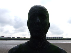 DSCF4847 (thecrookedfoo) Tags: beach home water wall liverpool sand ironman gormley crosby