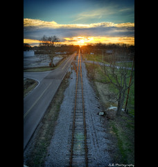 Tracks into the Sunset (photojourney57 (Thank You for 100,000+ Views!!)) Tags: road railroad sunset sky sun sunlight nature clouds train landscape outdoors photography photo vanishingpoint nikon god tennessee jesus perspective sunny pointofview bible thesouth sunrays traintrack vignette scripture hdr gravel biblequote 2012 savior holybible railroadtrack bibleverse cloudssky crosstie photomatix putnamcounty cookevilletn bracketed middletennessee d5000 ibeauty southernlandscape hdraddicted nearbynature jlrphotography nikond5000 worldhdr godsword