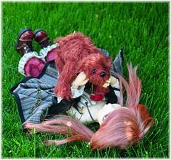 Azaliah and Thorn (Tiny Paws) Tags: ooak critter bjd kimlasher azaleah