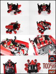 M-Tron Troopship (Med PhotoBlog) Tags: lego neo mecha blacktron troopship mtron