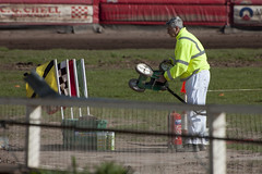 Line Painting (Richard Amor Allan) Tags: bike paint mud bikes line cycle stokeontrent marshal rider speedway cycles riders motorcyles scunthorpesaints stokepotters loomerroad