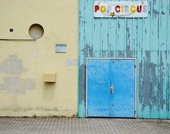 Forms and Colours (Tinina67) Tags: street door blue school france window square bottle colours circus niche round tina form geometrical challenge buidling odc auch gers tinina67