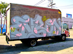 Enron (TheHarshTruthOfTheCameraEye) Tags: truck graffiti oakland hcm dtm nr mdr enron vts enrons