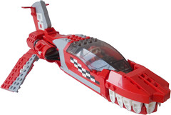 RedShark Racer - Title1 (.Jake) Tags: race lego space flag teeth spaceship racer octan