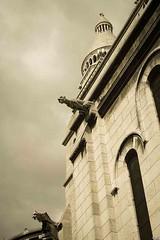 gargoyle on Sacre Coeur, Paris (white birch sf) Tags: paris france gargoyle romanobyzantine sacrecoeurbasilica