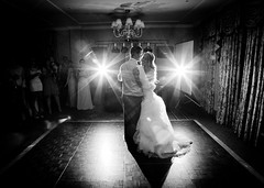 1st Dance (Impact Creative Imagery) Tags: bw groom bride dancing backlit weddings firstdance pocketwizards canon1dsmk2 430ex2