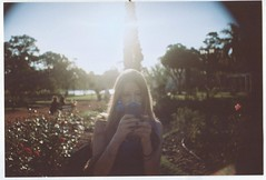 008B (candelariadeferrari) Tags: pink sunset red roses woman plants sun green love girl rose backlight contrast vintage blackberry friendship internet hipster violet cellphone teen blonde teenager typical communicate tecnology clich tecnologic weheartit