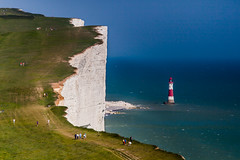 Beachy Head (Olly Plumstead) Tags: uk blue summer green lens landscape sussex chalk warm long head may sunny east british olly 70200 beachy plumstead lighthosue