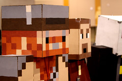 Minecraft cosplayers