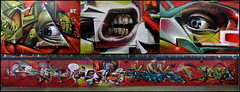 Epok, Kak, Smug, Bonzai & Bims (Chrixcel) Tags: london collage graffiti smug montage graff ghetto kak fresque stockwell paulsboutique bonzaï bims farceur beastieboyz