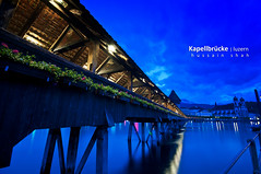 Kapellbrcke (Hussain Shah.) Tags: bridge blue switzerland wooden nikon swiss luzern sigma hour 1020mm lucerne shah kapellbrcke hussain d300s