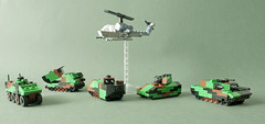 Mini faction: NATO style (Aleksander Stein) Tags: scale lego military attack camo helicopter vehicles western nato 1100