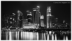 The Singapore Central Business District (ShutterbugL) Tags: skyline night singapore cityscape places esplanade marinabaysands ef1635mml 5dm3