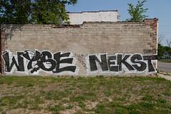 wyse nekst (ExcuseMySarcasm) Tags: streetart graffiti unitedstates michigan detroit revok nekst wyse guerrillaart vizy excusemysarcasm