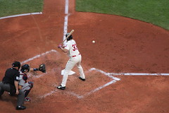 Johnny Damon LF #33 Cleveland Indians (Sports Crazy) Tags: baseball clevelandindians johnnydamon mlb clevelandoh minnesotatwins americanleague progressivefield canont3i
