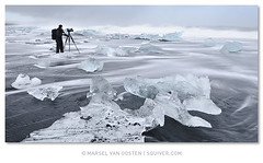 The Videographer (Marsel van Oosten) Tags: winter sea seascape black cold ice beach photography iceland tide workshop jokulsarlon videographer phototours marselvanoosten squiver