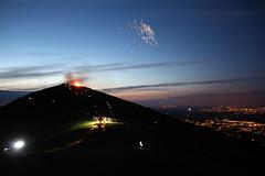 The Worcestershire Beacon (flash of light) Tags: england night dark twilight fireworks jubilee diamond hills malvern beacon 2012 worcesterhshire