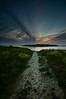 The Path (Tony N.) Tags: blue sunset red sea sky mer france clouds rouge sand path ngc sable bretagne bleu ciel nuages chemin coucherdesoleil finistère sigma1020 kastellach d300s stcava