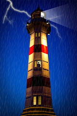 A Stormy Night at the LightHouse........