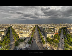 Storm is coming (Gskill photographie) Tags: urban storm paris france weather sunrise canon elyses wideangle uga arcdetriomphe champselyses 1022 landscap gskill 60d francelandscapes