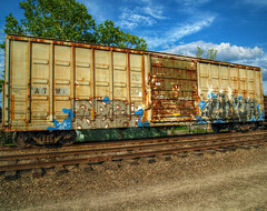(builder24car) Tags: railroad graffiti etc chem trainart freighttraingraffiti paintedboxcar benchingthefreights