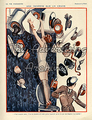 30573601 (The Advertising Archives) Tags: vintage shopping french hats illustrations erotica womens retro posters mens artdeco saucy magazinecovers disasters lavieparisienne magazineartwork theadvertisingarchives magazineplates