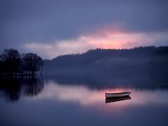 CROSSING OVER (explore) (kenny barker) Tags: morning mist landscape dawn scotland explore trossachs lochard olympusep1 kennybarker