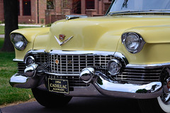 1954 Cadillac Eldorado (CliffMuller) Tags: car yellow automobile antique 1954 cadillac bumper chrome grille