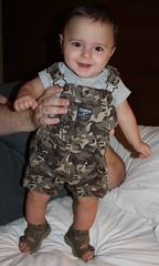 Happy Feet! (coppejohn) Tags: boy portrait baby cute feet smile face pose eyes child sandals son