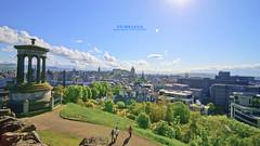 Edinburgh (pRaTuL rAgHaV) Tags: new old city uk blue sky cold green grass clouds scotland town nikon edinburgh angle hill wide medieval tokina sd if pro georgian ultra f28 116 calton dx atx sunstar uwa d90 1116mm