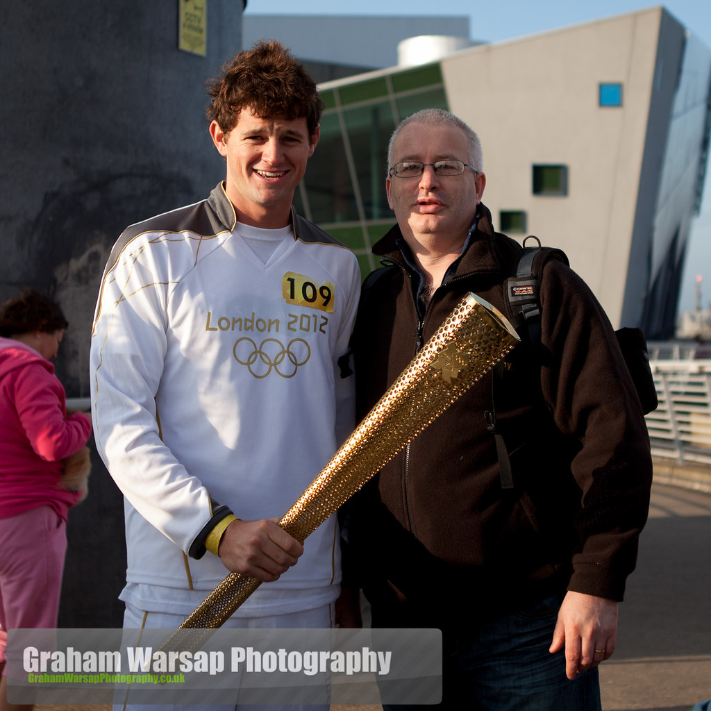 Olympic Torch at the Deep-0841
