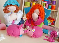 Que gracinha! (BoniFrati) Tags: cute pig diy craft felt feltro tutorial pap molde porco porquinho leito passoapasso bonifrati faavocmesmo feltpig leitozinho