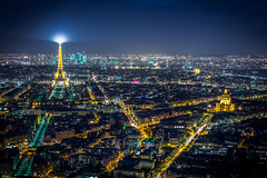Paris en pleine nuit (etrephotographe) Tags: paris france published cityscapes nuit iledefrance tourmontparnasse vuedensemble exterieur poselongue toureiffeil vuesurlaville