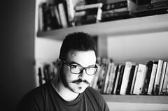 Yann (Louise de Cours) Tags: winter portrait blackandwhite man art film face photography nikon friend lifestyle explore 55mm 2014