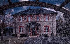 Alter Bahnhof (Doppelbelichtung) (novofotoo) Tags: germany bayern deutschland bavaria oberbayern alter bahnof motiv beilngries mehrfachbelichtung doppelbelichtungkamera