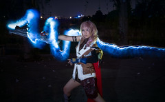 Lightning (bdrc) Tags: asdgraphy sigma 30mm f28 prime sony a6000 lightning returns final fantasy game night cosplay girl portrait light painting flash corver outdoor long exposure