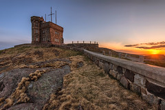 Cabot Tower on Signal Hill (angie_1964) Tags: cabottower tower signalhill hill stjohns newfoundland canada nl sunset sky spring nikond800e nature outdoor fence landscape