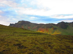 IMG_7219 (NapoleonIsNotDead) Tags: ocean mountain color strange landscape iceland colorful view south hill vik multicolor promontory dyrhlaey reynisfjall myrdalur