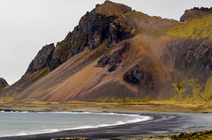 Iceland Ring Road (Explore) (Doreencpa) Tags: ocean cliff mountain beach rock landscape iceland explore mountainside blackbeach
