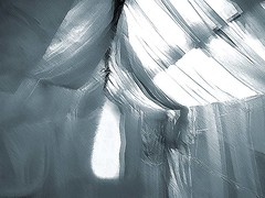 Fullmoon in a tent (losy) Tags: moon tent dreaming fullmoon fabric voile superstitions losyphotography