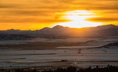 Colorado Sunset (Edie Mendenhall) Tags: landscape orangesky snowcappedmountains yellowsky coloradosunset edieannphotography ediemendenhall