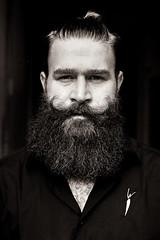 "Quentin - Brussels (Sailing ""Footprints: Real to Reel"" (Ronn ashore)) Tags: portrait people blackandwhite men film 35mm beard 50mm trix rangefinder vtol leicar4 trixinxtol leica50mmf2summicronr"
