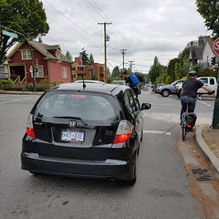 please turn right from the right lane #3000poundsofdailydanger 20160524_170255 (roland) Tags: bike vancouver bicycling driving commuting violation baddriving bicyclingromwork turnrightfromtherightlane bike2workpix dontbeinsuchahurry wirhabenesnichtsoeilig