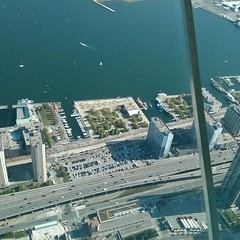 HTO Park from the Skypod #toronto #cntower #htopark #parks #lakeontario #skypod (randyfmcdonald) Tags: toronto square cntower parks squareformat harbourfront skypod htopark iphoneography instagramapp uploaded:by=instagram