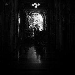 Shadowcasters (Nikos.K.) Tags: city people urban blackandwhite bw film shadows crowd athens greece 135 expired expiredfilm 2016 kodakplusx125 kodakretinaii kodakxtol expired1976 rodenstockheligon5cmf2